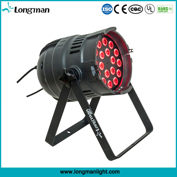 18pcs 14w rgbawuv 6in1 led par 64 light for stage