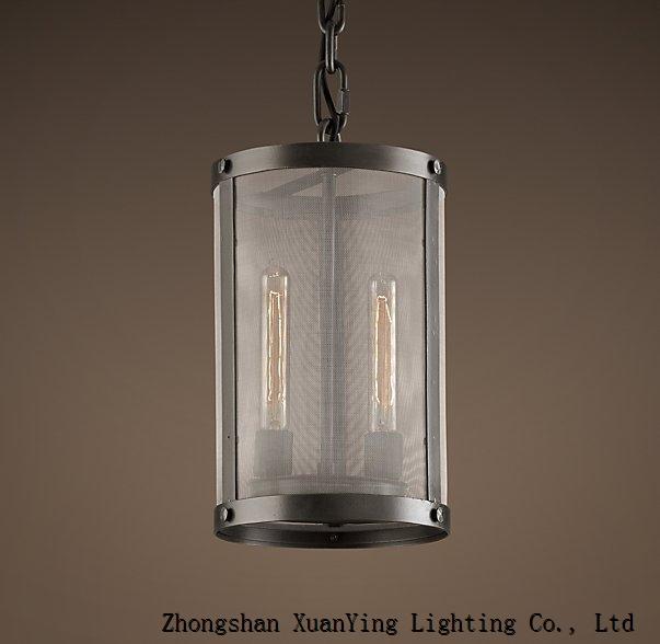 2015 New Elegant Riveted Mesh Pendant lamp with T9 bulbs