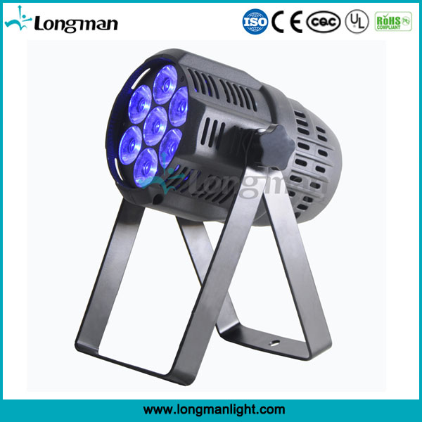 7pcs 15w RGBW narrow beam led spot par lights for indoor stage