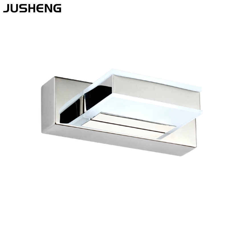 4W Square W4w White Square Acrylic LED Bathroom Mirror Wall Lamp 6010