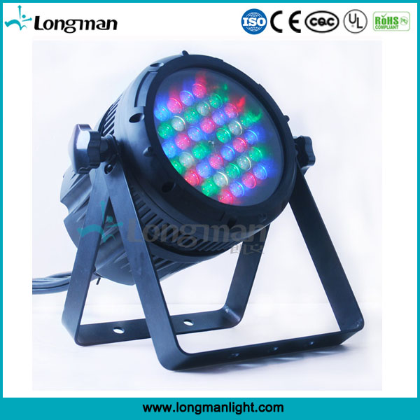 CE outdoor waterproof zoom 36pcs 3w rgbw led par can light for stage