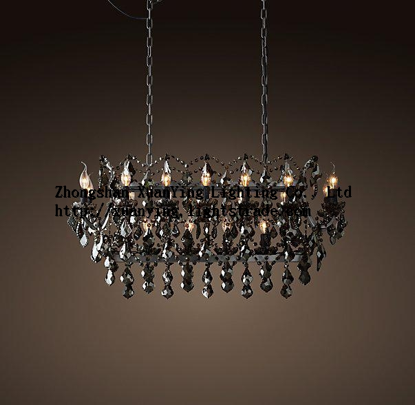 Special style black crystal pendant light for home decoration Hanging Lamp