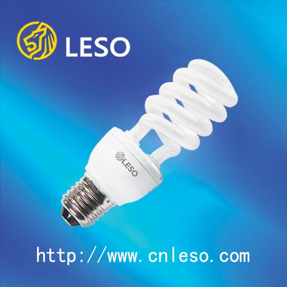 2016 main product half spiral cfl daylight 22w 12mm daylight energy saving lamps