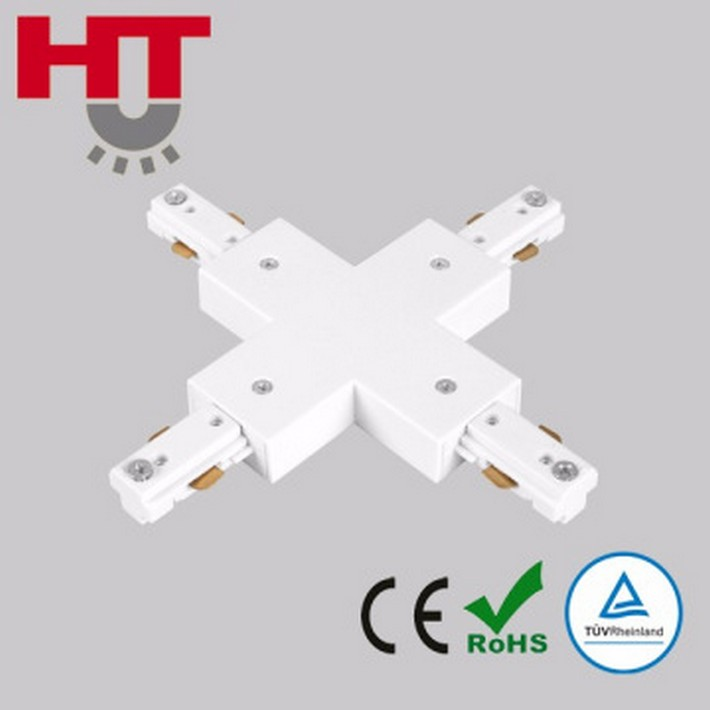 Haotai one circuit 3 wires track system led track light accessories haotai one circuit 3 wires track system led track light accessories x connector with ce tuv aloadofball Image collections