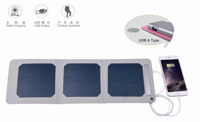portable solar charger with power bank