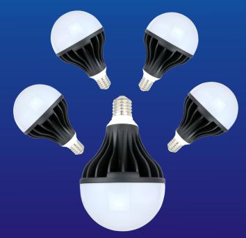 LED black aluminum bulb lamp