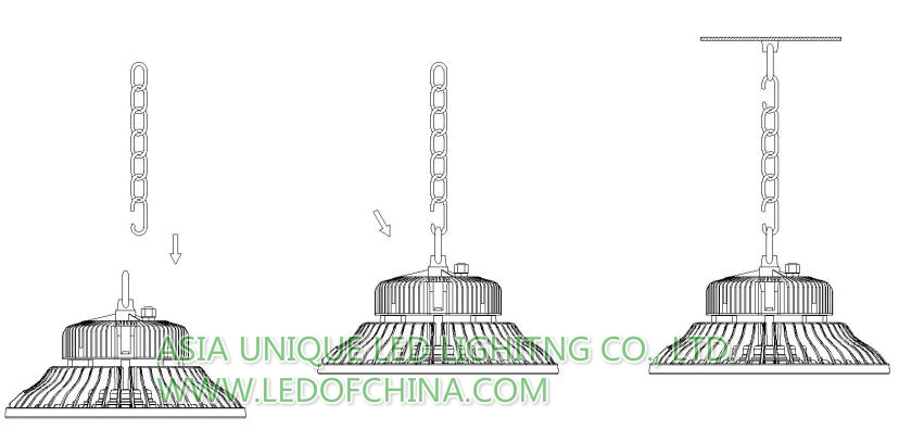 150w Ufo Led High Bay Light 120lm Per Watt Microwave