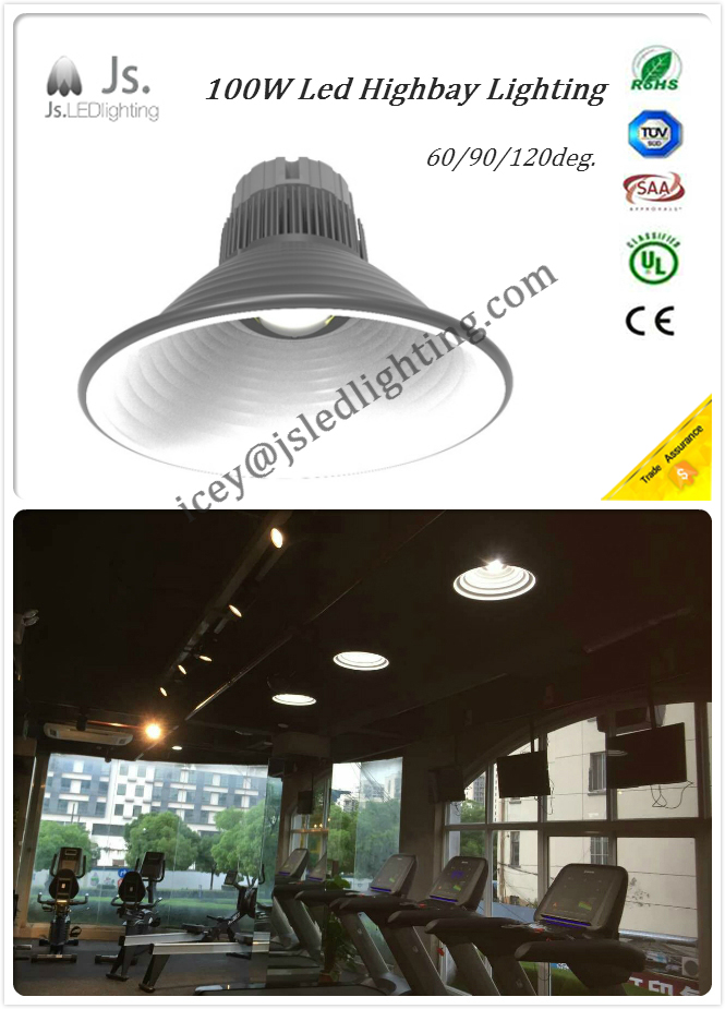 100W Led Highbay lighting -90degree