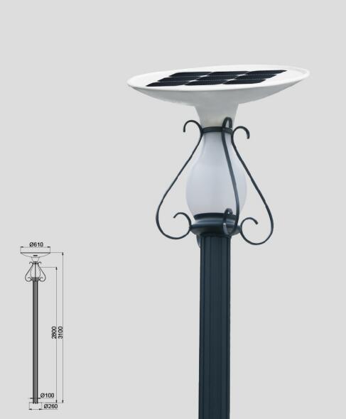 10W Solar Garden Light with Angle adjustable