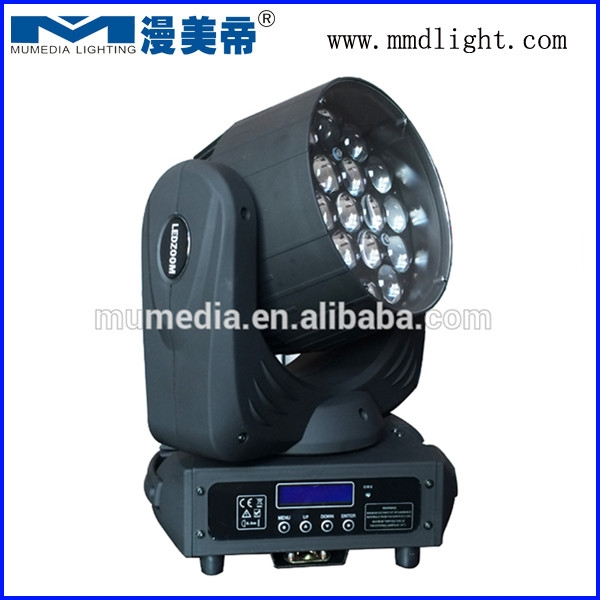 LED Zoom Moving Head 19pcs 15W 4in1