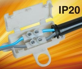 IP20 Mini Junction Box With Terminal For Lamp Fitting