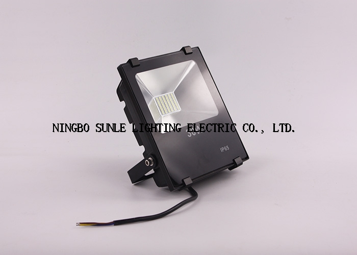 slim led flood light IP65 waterproof black aluminum alloy high lumen led flood light 30w