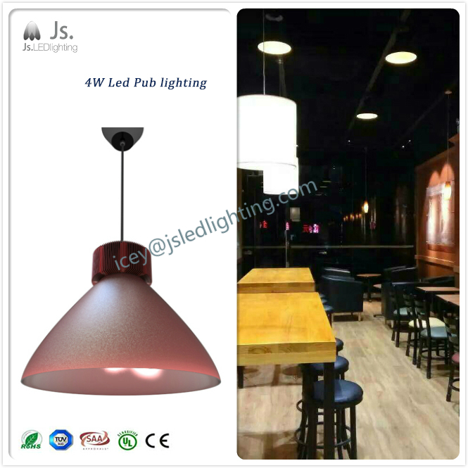 220V 4W 90degree Led Pub light