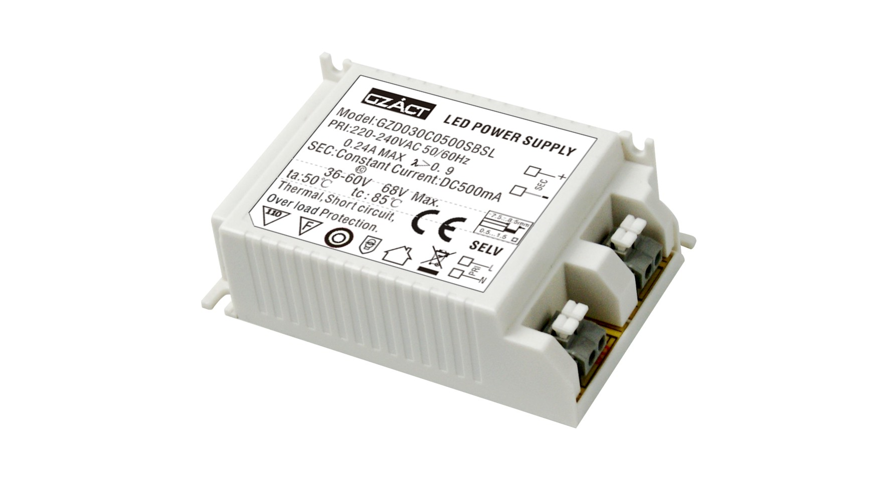 Tuv Ce Saa Ccc 21 30w Constant Current Dc 800ma Led Driver Foshan This Circuit Can Be Adjusted To