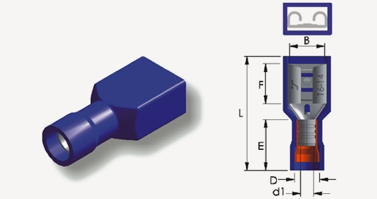 Square PVC or Nylon Fully Insulated Female Disconnector