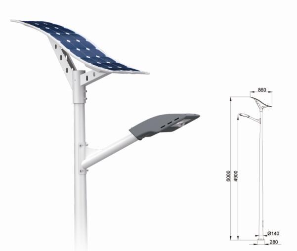 20W LED Solar Pathway light with flexible solar panel