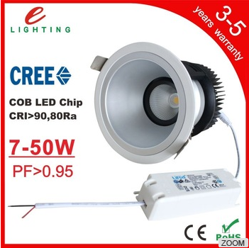 Recessed mounted dimmable led COB downlight