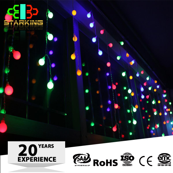 RGB Color Christmas LED Home Decor curtain lights