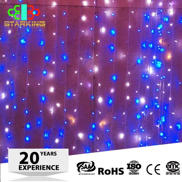 Holiday name outdoor building wall light fairy LED curtain light