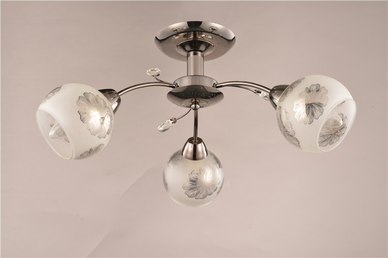 Morden Ceiling lamp with flowr glass shade