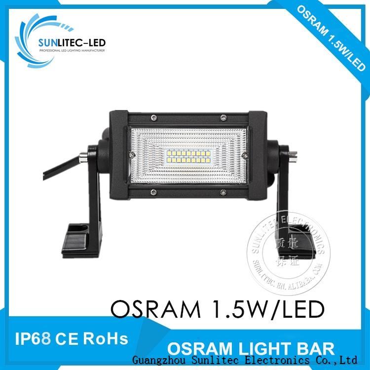 Sunlitec Tri rows offroad 4x4 led light bar for truck atv tuv suv