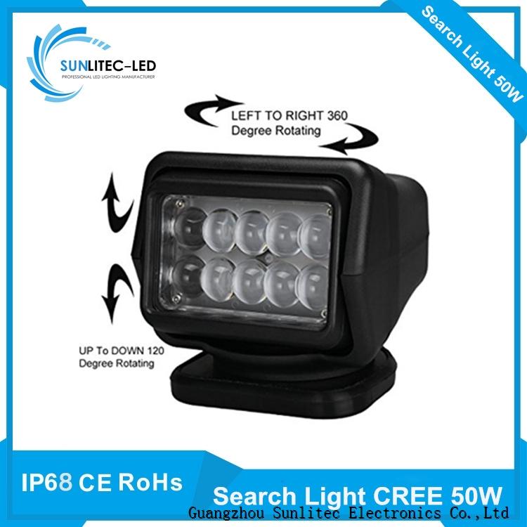 Sunlitec 50w 60w cree led search light