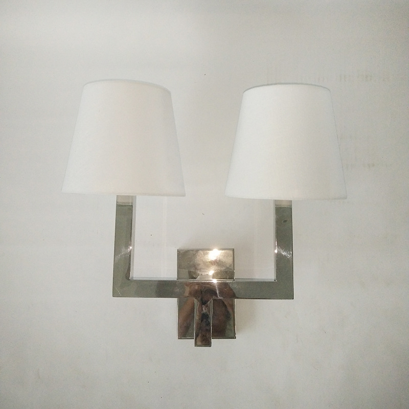 The bedroom of white linen chimney wall lamp The sitting room is special stainless steel primary cla