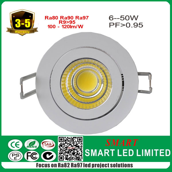 5years warranty 7w recessed led cob down light top quality