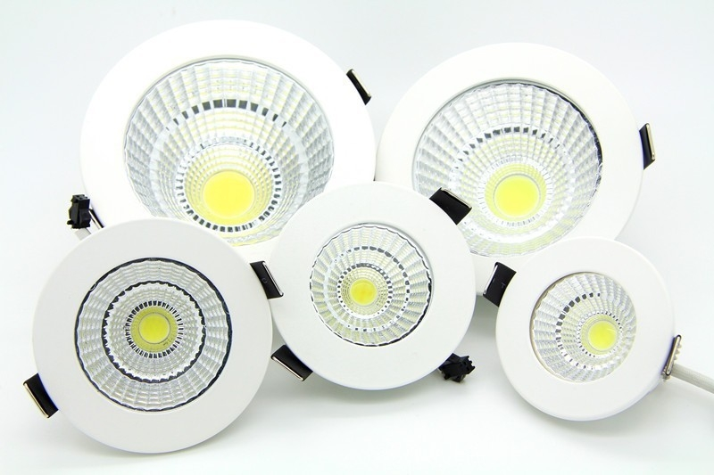 LED Recessed Downlight 5W 7W 9W 12W 15W18W COB Chip LED Ceiling SpotLight White Warm white