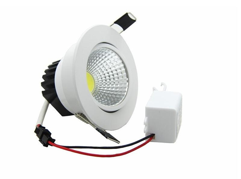 LED Dimmable Downlight COB 6W 9W 12W 15W LED Spot light LED decoration Ceiling Lamp AC85-265V