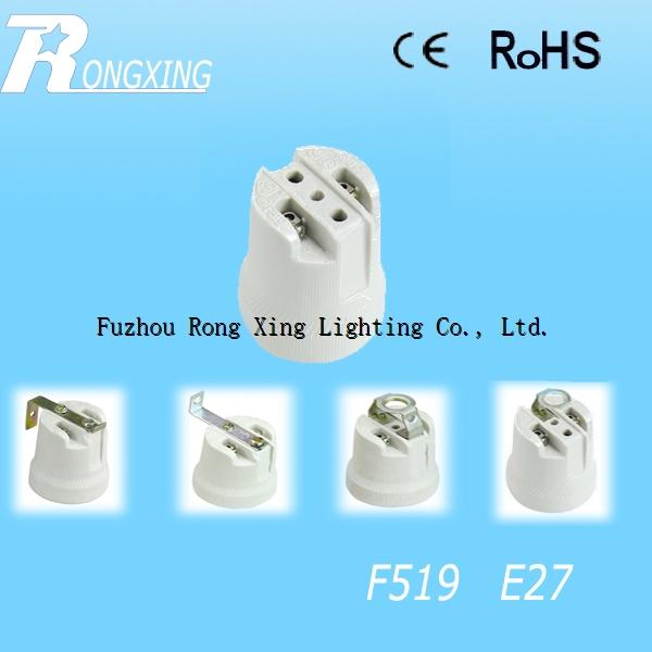 Procelain Ceramic Lampholder F519 E27