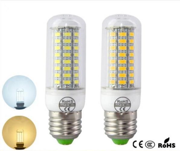 Super Bright AC220V E27 E14 72LEDs LED Corn bulb lamps SMD5730 LED lamp Solar wall light for Home