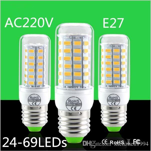 E27 Led Lamps 5730 220V 24 36 48 56 69 LED Lights Corn Led Bulb Christmas Chandelier Candle Lightin