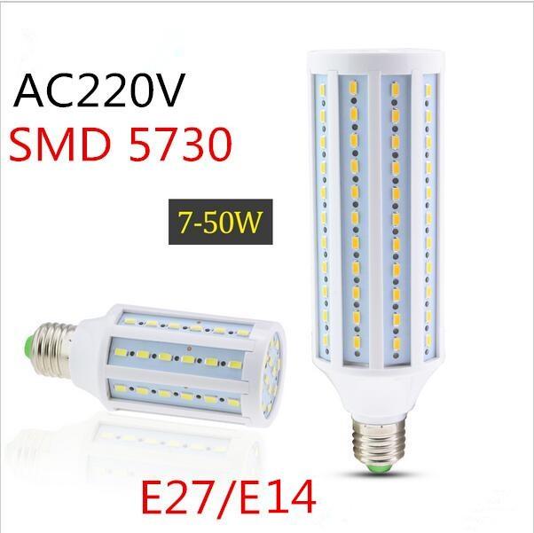 E27 E14 Led Lamp SMD5730 5630 220V110V 7W 12W 15W 25W 30W 40W 50W LED Spot Light Corn Led Bulb Chand