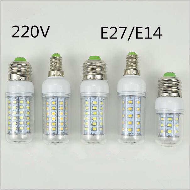 30 36 48 56 69 89 102LEDs E14 E27 220V LED Corn light Bulb Replace Compact Fluorescent lamp CFL