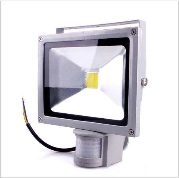 free shipping 10W PIR Motion sensor LED Flood light Induction Sense lamp FloodLight AC 85 265V LED
