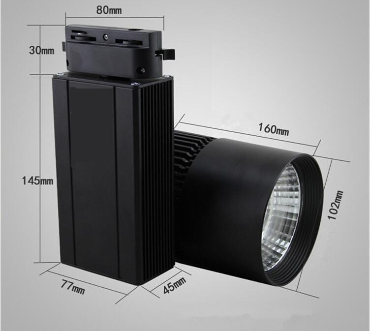 30W COB Led Track Light 2016 TrackLight High Power Spotlight for Shop Clothing store track Light