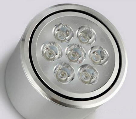 7W WhiteSilverBlack shell Dimmable Down Lamp Surface Mounted Lights high-grade Shell advantage