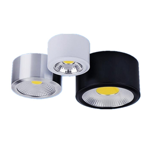 5W 10W Dimmable 2800-7000K COB LED Downlight Round clothing exhibition decorative lighting
