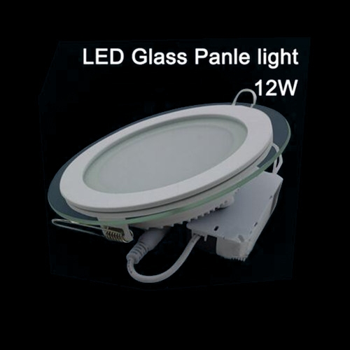 New arrivals LED glass round Panel Recessed Wall Ceiling Downlight AC85-265V 6W12W18W high bright