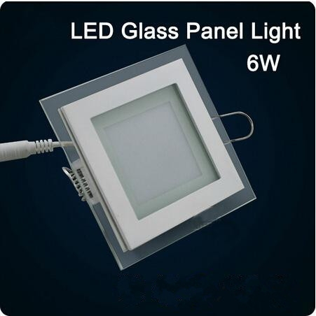LED glass Square Panel Recessed Wall Ceiling Downlight AC85-265V 6W12W18W high bright SMD5730 LED