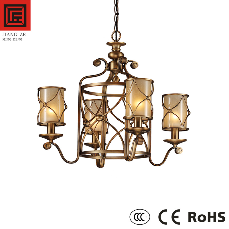 2017 European decoration lighting antique chandelier with classic glass pendnat light CE Rohs