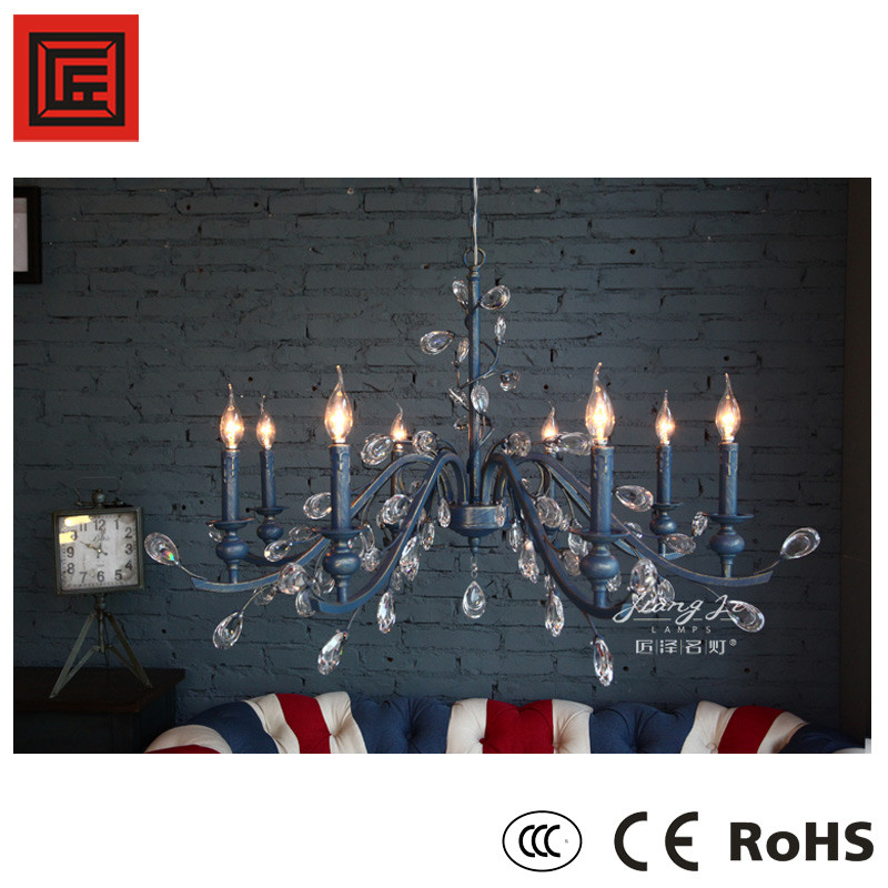 Top quality modern iron chandelier crystal Singletier Chandeliers 8838-8