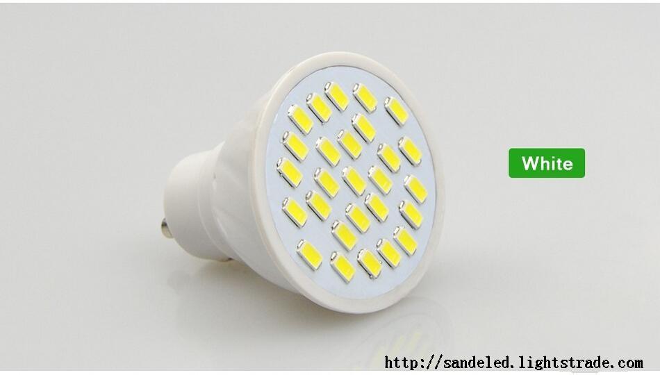 Energy Saving Full Watt 7W GU10 LED Spotlight Bulb AC110v-220V Heat resistant Body SMD5730