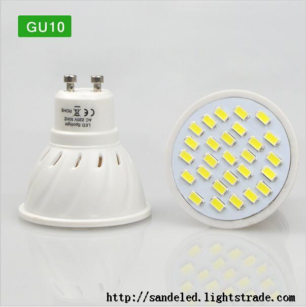 Energy Saving LED Spotlight Bulb E27 GU10 MR16 7W AC 220V Heat resistant Body 5730SMD 27LEDs lamp