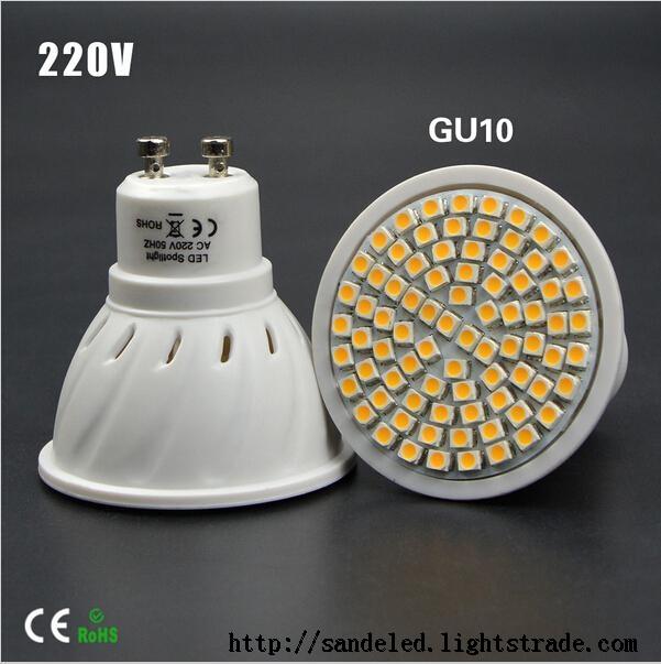 Full Watt 6W 8W GU10 LED Bulb lamp Heat-resistant Body AC 110-220V 60LEDs 80LEDs Spot light 2835SMD