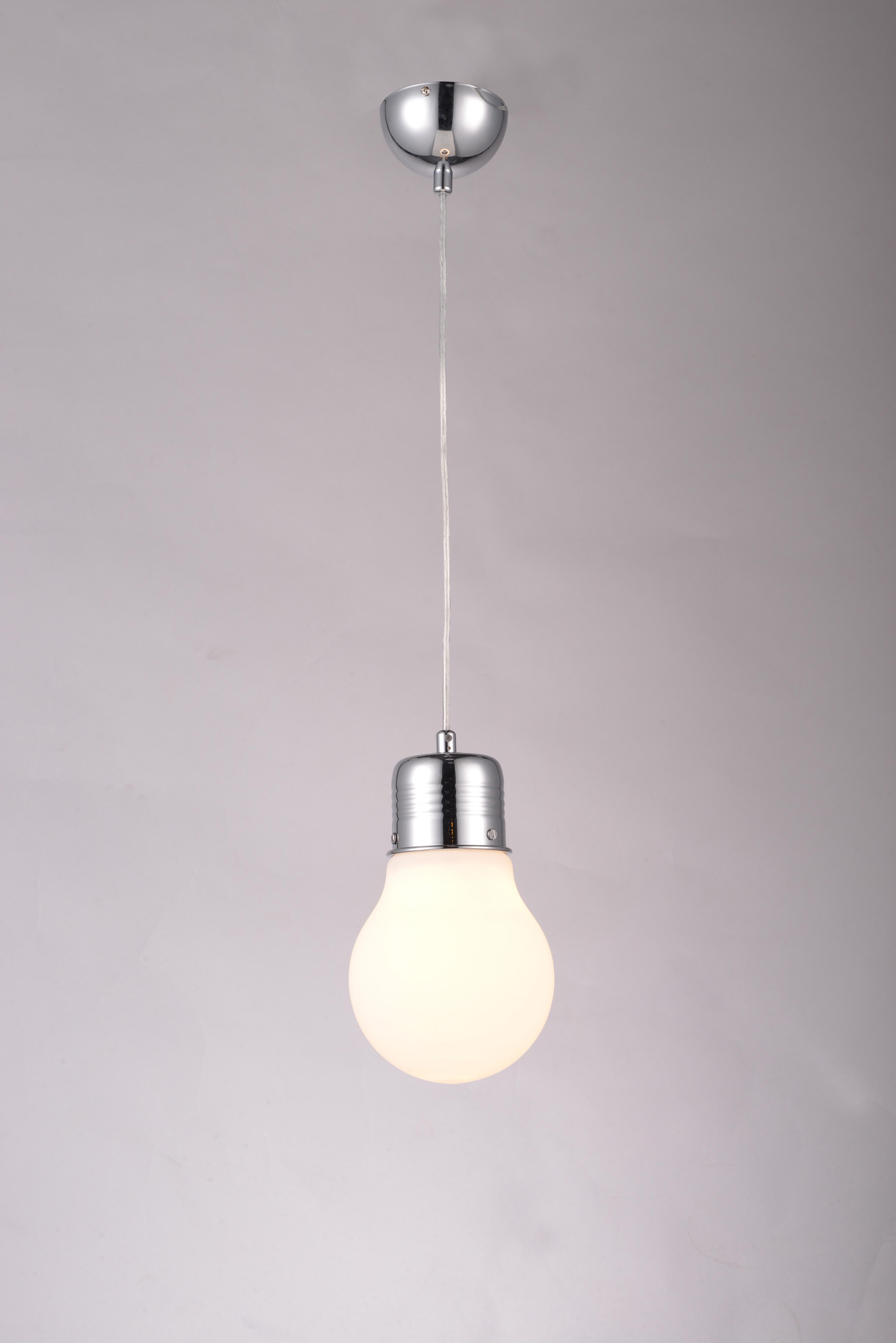 Glass shade Bulb ball pendant light