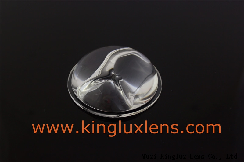 Kinglux 66mm 140 × 60 degree Glass led lens for 10W20W30W led street lamps