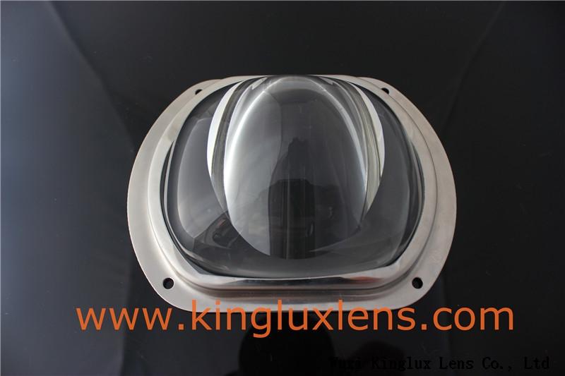 107mm 140×110degree glass led street light lens for led street lamps KL-SL107-87-2