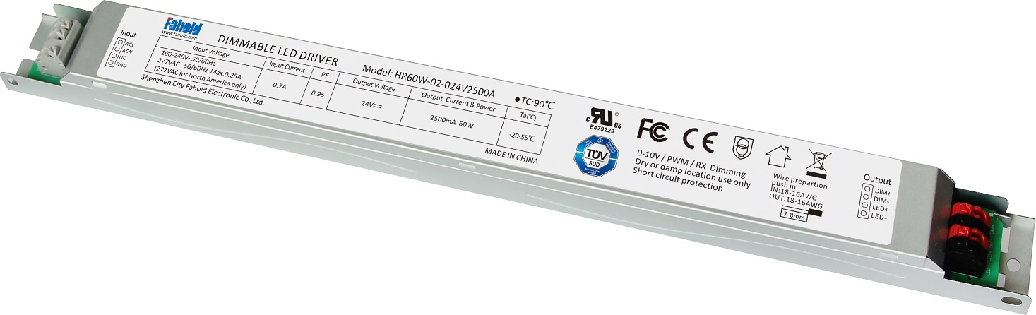 Constant Voltage 60W LED Drivers for LED Linear Lights UL TUV Certified